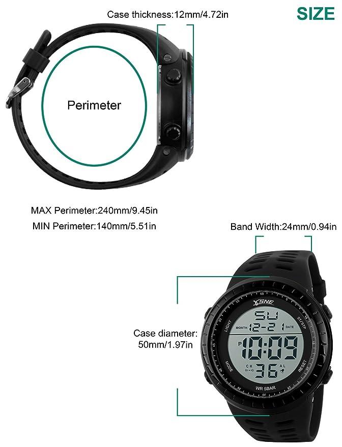 Amazon.com: Reloj deportivo digital resistente al agua al ...