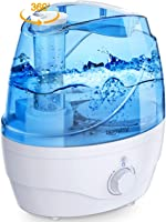 Homasy Cool Mist Humidifiers, 28dB Whisper-Quiet Humidifiers for Bedroom, Easy to