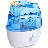 Homasy Cool Mist Humidifiers, 28dB Whisper-Quiet Humidifiers for Bedroom, Easy to Clean & Control Air Humidifier, Auto Shut-O