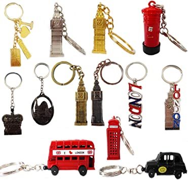 LONDON PHONE BOOTH BRELOCK DIECAST BIG BEN KEY 120 BRITISH MINIATURE KEY RING