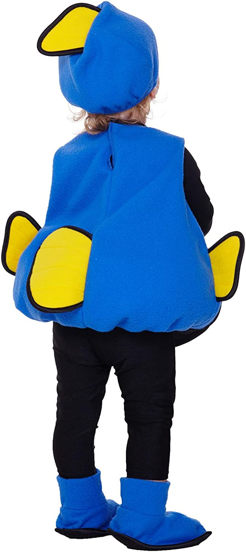 Totalmente Ghoul Pez Azul Chaleco Niños Disfraz Tamaño: 1T-2T ...