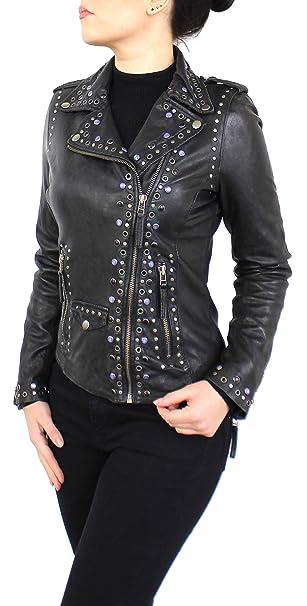 Lederjacke Jeanne Damen Jacke aus echt Lamm Leder mit