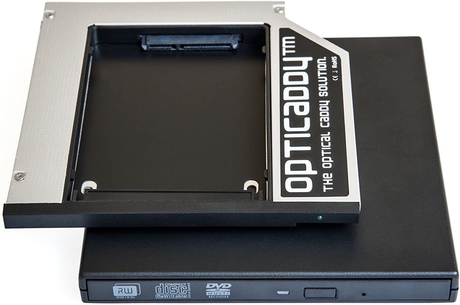 Opticaddy© SATA-3 HDD/SSD Caddy Adaptador SET con carcasa externa ...
