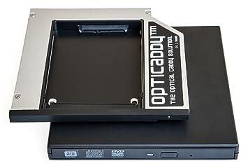 Opticaddy© SATA-3 HDD/SSD Caddy Adaptador SET con carcasa externa USB para una unidad óptica para Lenovo Thinkpad T400, T400s, T410, T410s, T410i, ...