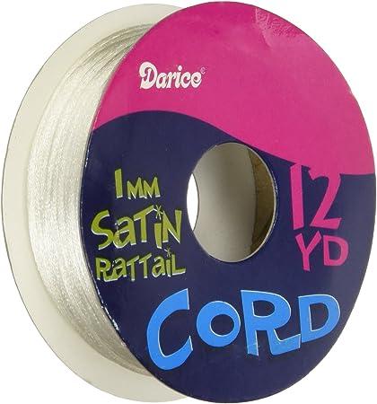 1mm Darice 12-Yard per Roll Satin Rattail White