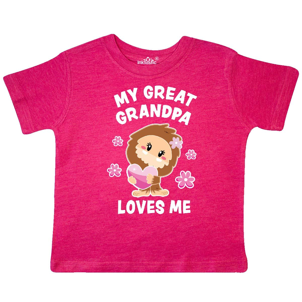 inktastic My Great Grandpa Loves Me with Bigfoot Toddler T-Shirt