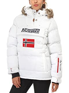 geographical norway parka blanca mujer