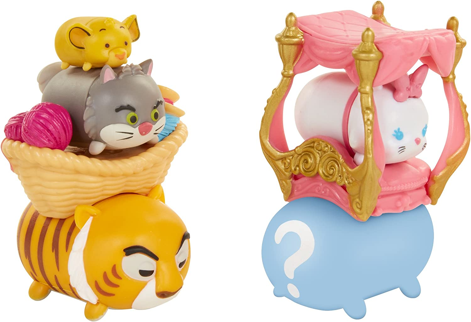 TSUM TSUM Disney 7 Pack Figures Series 7, Style #1, Cat Pack Toy Figure