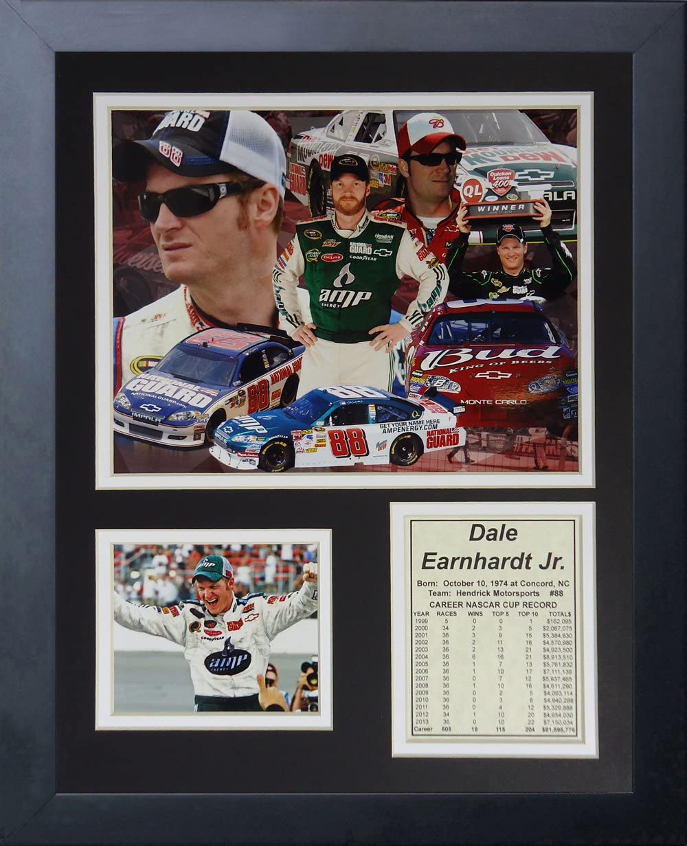 Framed Photo Collage 11 x 14-Inch Legends Never Die Dale Earnhardt Jr