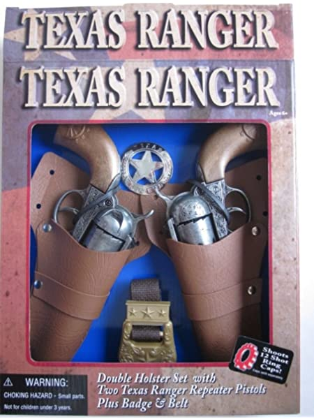 Leather Western Express Kids Children Double Holster Belt