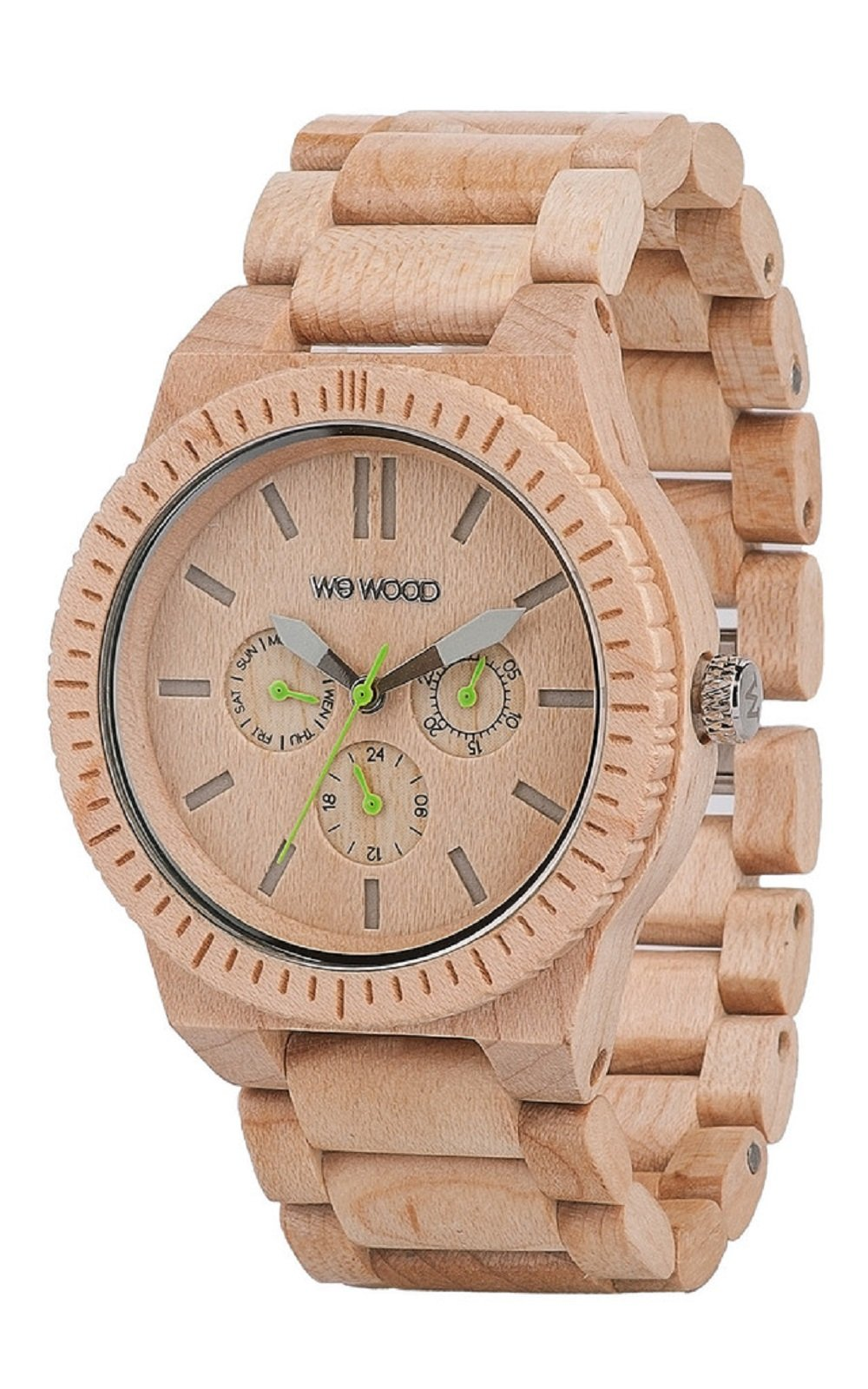 WeWood Men's Kappa Beige Wooden Watch