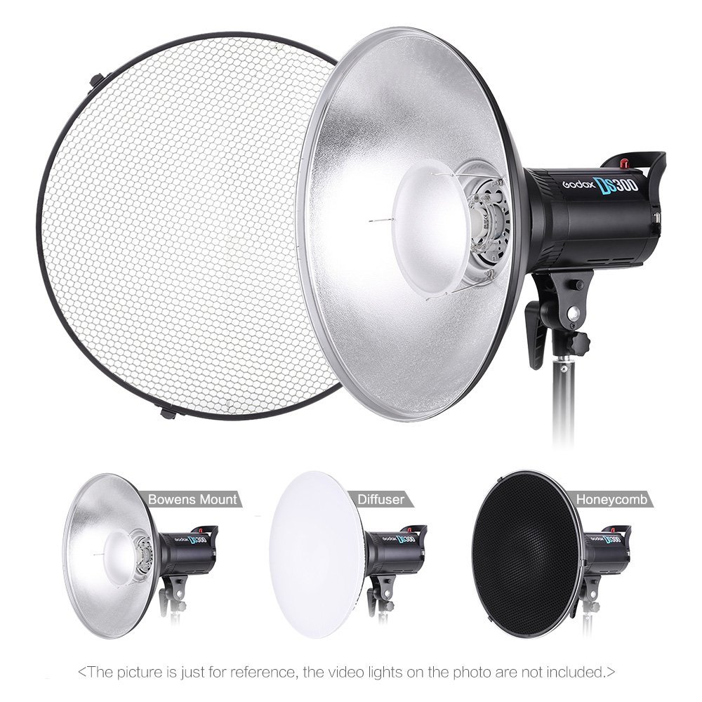 Andoer 41cm Beauty Dish Reflector Strobe Lighting Honeycomb for Bowens Mount Speedlite Photogrophy Light Studio Accessory
