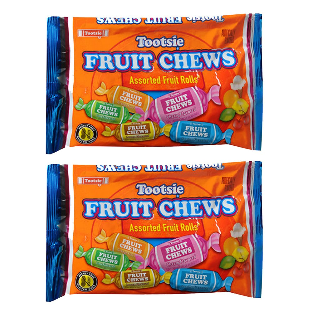 Tootsie Fruit Chews Assorted Fruit Rolls -- Pack of 2 Bags (11.66 Oz Total) (Pack of 2) : Grocery & Gourmet Food