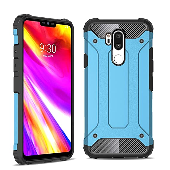 best authentic d9563 d2510 LG G7 Case, LG G7 ThinQ Case, Cbus Wireless Hard Case Cover Hybrid TPU  Flex-Gel Interior   Drop Tested Protection LG G7 ThinQ Compatible (Blue)
