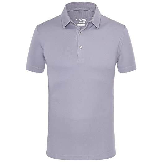 d8f5bc7280a38 EAGEGOF Regular Fit Men's Golf Polo Shirt Quick Dri Short Sleeve Fashion  Classic Style(Light