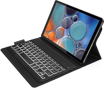 Jelly Comb carcasa con teclado iluminado para Samsung Tab A 10,1 2019 [negro]