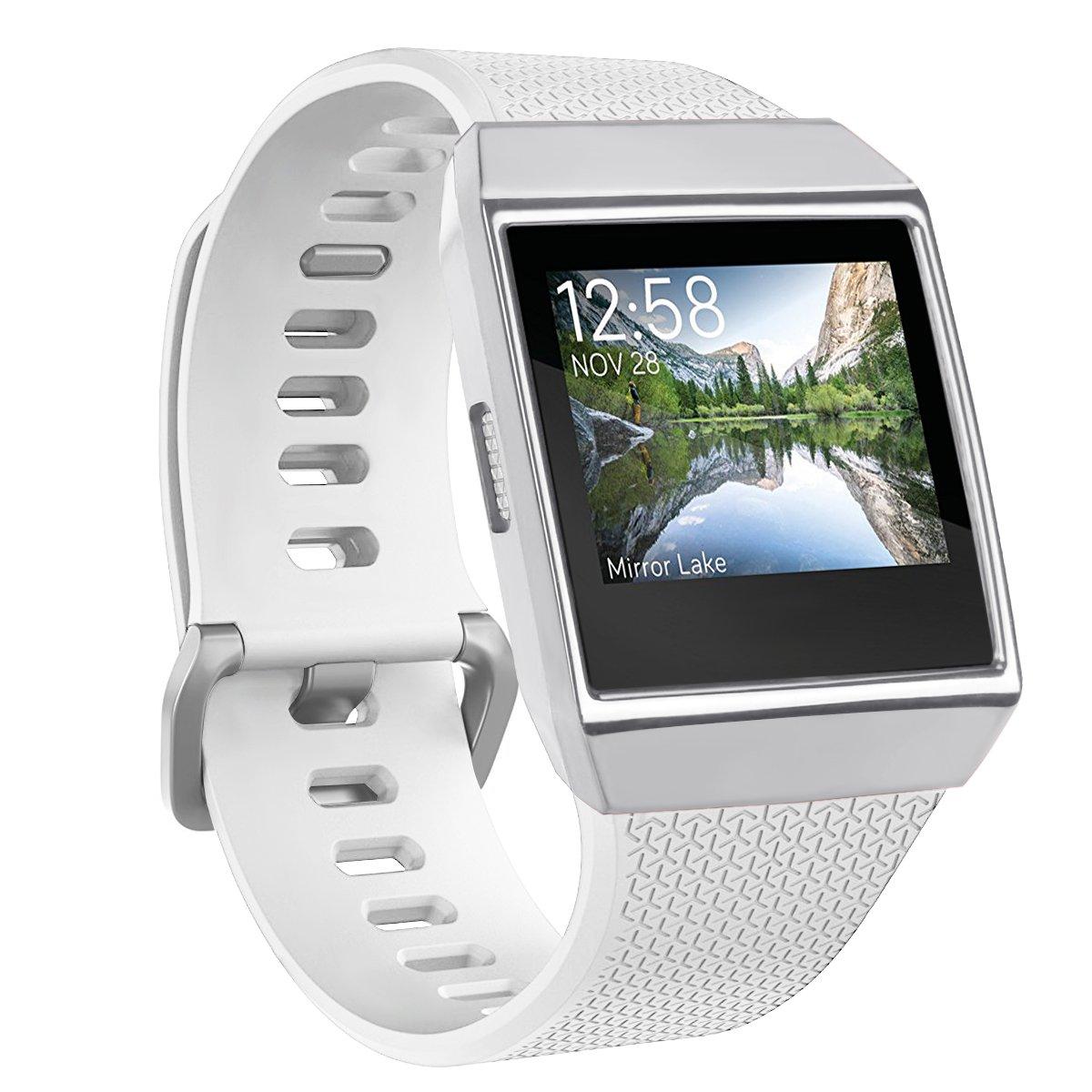 TopTen - Coque de protection de remplacement pour montre connectée fitbit Ionic en TPU doux M Red: Amazon.fr: Sports et Loisirs
