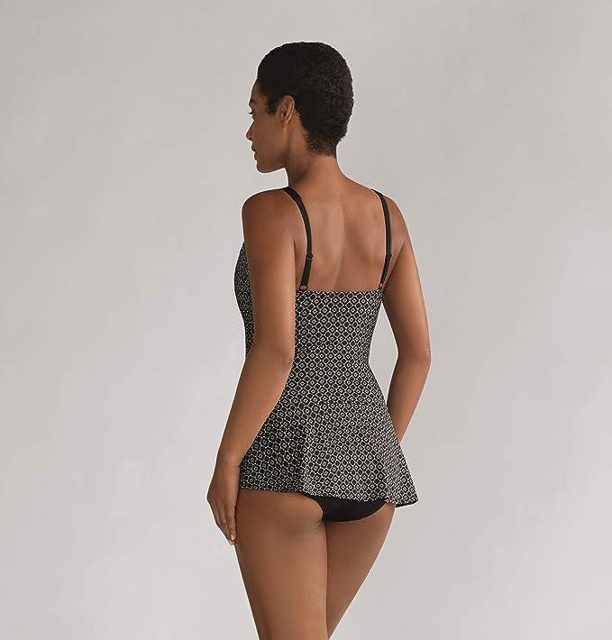 8eac031db7 AMOENA Ayon Sarong Femmes Une Pièce à Poches à Jupes Maillot de Bain Noir/ Blanc: Amazon.fr: Vêtements et accessoires
