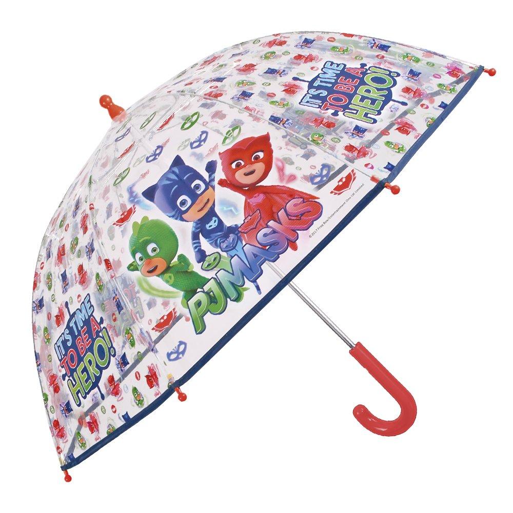 Parapluie Pyjamasques Enfant - Parapluie Transparent Garçon PJ Masks - Solide et Long - Ouverture de Securité - 3/6 Ans - Diamètre 78 cm - Perletti 75416