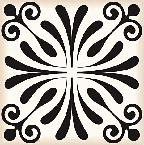 Black /& White Collection Peel and Stick Tile Stickers 24 PC Set backsplash Tile Decals Bathroom /& Kitchen Vinyl Wall Decals Easy to Apply Just Peel /& Stick Home Decor Black /& White B5, 6x6 Inch