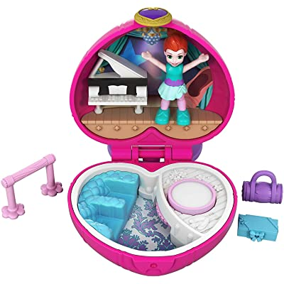 Polly Pocket Tiny Pocket Places Ballet Compact! Lila Doll: Toys & Games