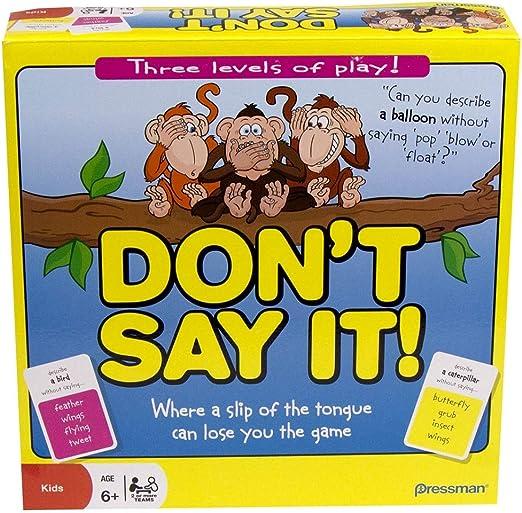 Paul Lamond Games - Dont Say it! (no lo digas) Juego en inglés: Chimp n Zee: Amazon.es: Juguetes y juegos