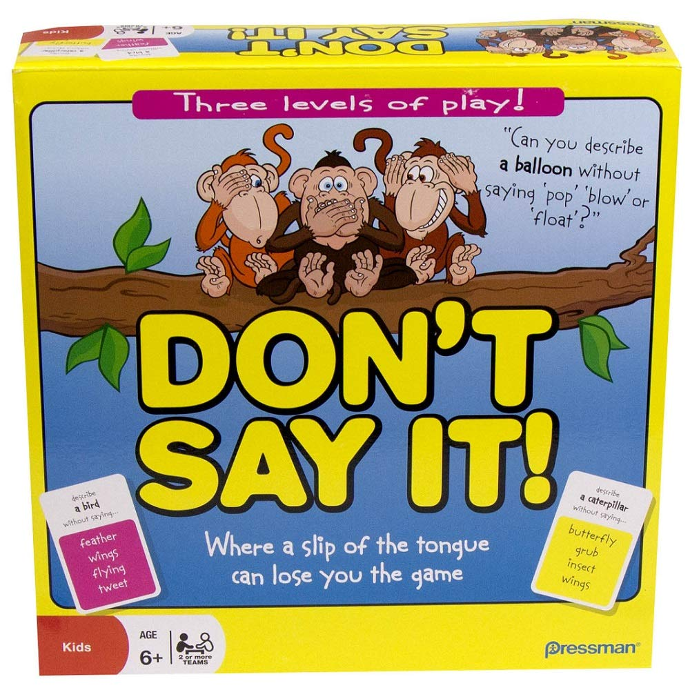Pressman Don't Say It Where a Slip of The Tongue Can Lose You The Game, 2+ Player
