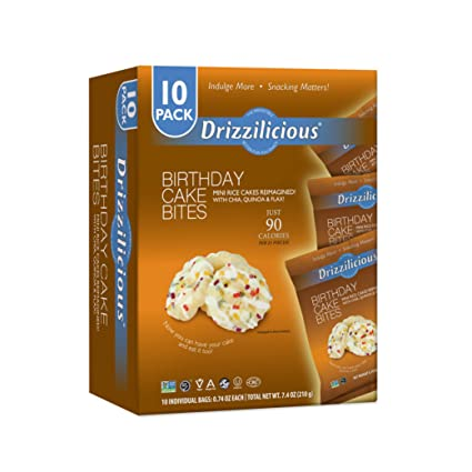 Drizzilicious – Pastel de cumpleaños, 10 unidades: Amazon ...