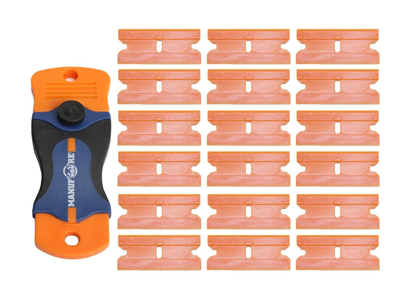 MANUFORE Portable Little Plastic Razor Scraper for Cleaning Glass Stove-top, Window,Floor