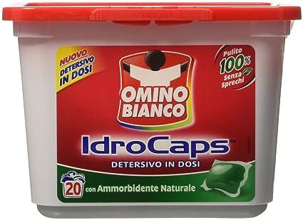Omino bianco, Idrocaps - Detergente en dosis con suavizante – 20 unidades