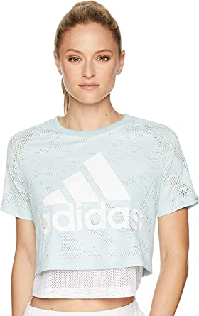 edb8bce73 adidas Womens ID Mesh Crop Top: Amazon.co.uk: Clothing