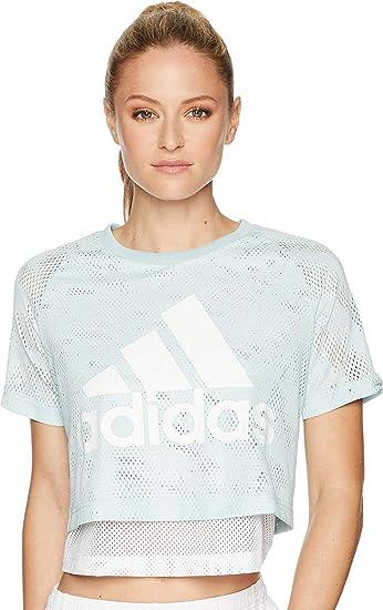 917dcad2f69e Adidas ID Mesh Crop T-Shirt at Amazon Women s Clothing store