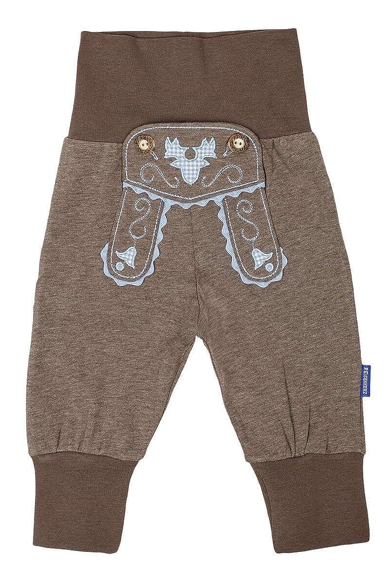 Jungen Baby Schlupfhose im Lederhosenstil braun blau braun//blau, P.Eisenherz Baby