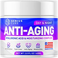 GENIUS Anti Aging Cream for Face - Day & Night Wrinkle Cream - Boosted with Hyaluronic...