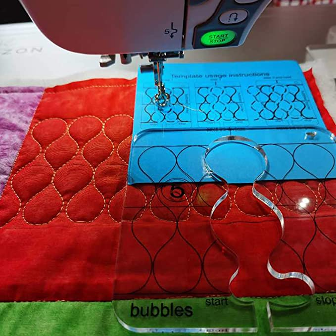Q5-01 YICBOR Free Motion Quilting Template Series 5 with Quilting Frame for Domestic Sewing Machine TK