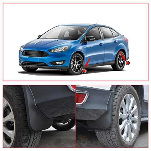 Guardabarros para Ford Focus Hatchback ST se 2011 - 2017 lado delantero y trasero Splash Guards: Amazon.es: Coche y moto