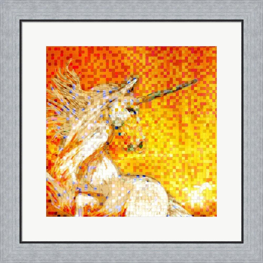 Amazon.com: Unicorn Collage Framed Art Print Wall Picture, Flat ...
