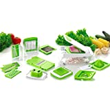 Cool-Shop Multipurpose Vegetable Chopper Mandoline Spiralizer Slicer - 12 in 1 Heavier Duty Multi Vegetable-Fruit-Cheese-Onion Chopper-Dicer-Kitchen Cutter