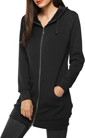 Fashion Women Hoodie Warm Sweatshirt Long Sleeve Coat Jacket Sweat Mini Dress US