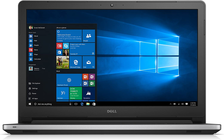 Dell Inspiron 15 5000 Series 15.6 Inch Laptop (Intel Core i5 5200U, 8 GB RAM, 1 TB HDD, Silver) with MaxxAudio