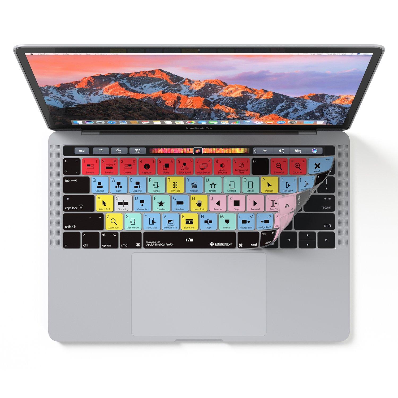 Finale Coupe Pro X Housse Pour MacBook Pro Touch Barre 13' et 15' Editors Keys FCPX-MTB-USUK