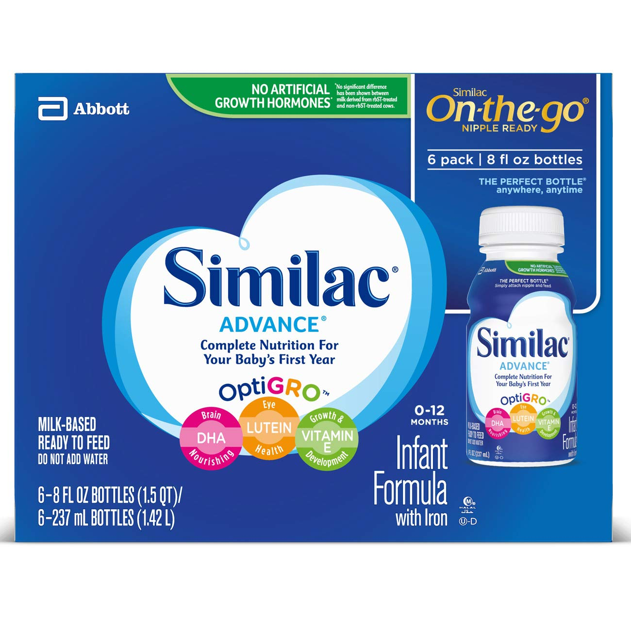 Similac Advance Infant Formula with Iron, Baby Formula, Ready to Feed, 8 fl oz (Pack of 24) by Similac (Image #8)