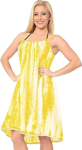 TALLA L-XXL. LA LEELA Bikini rayón Tie Dye Playa de Las Mujeres Cubrir td108