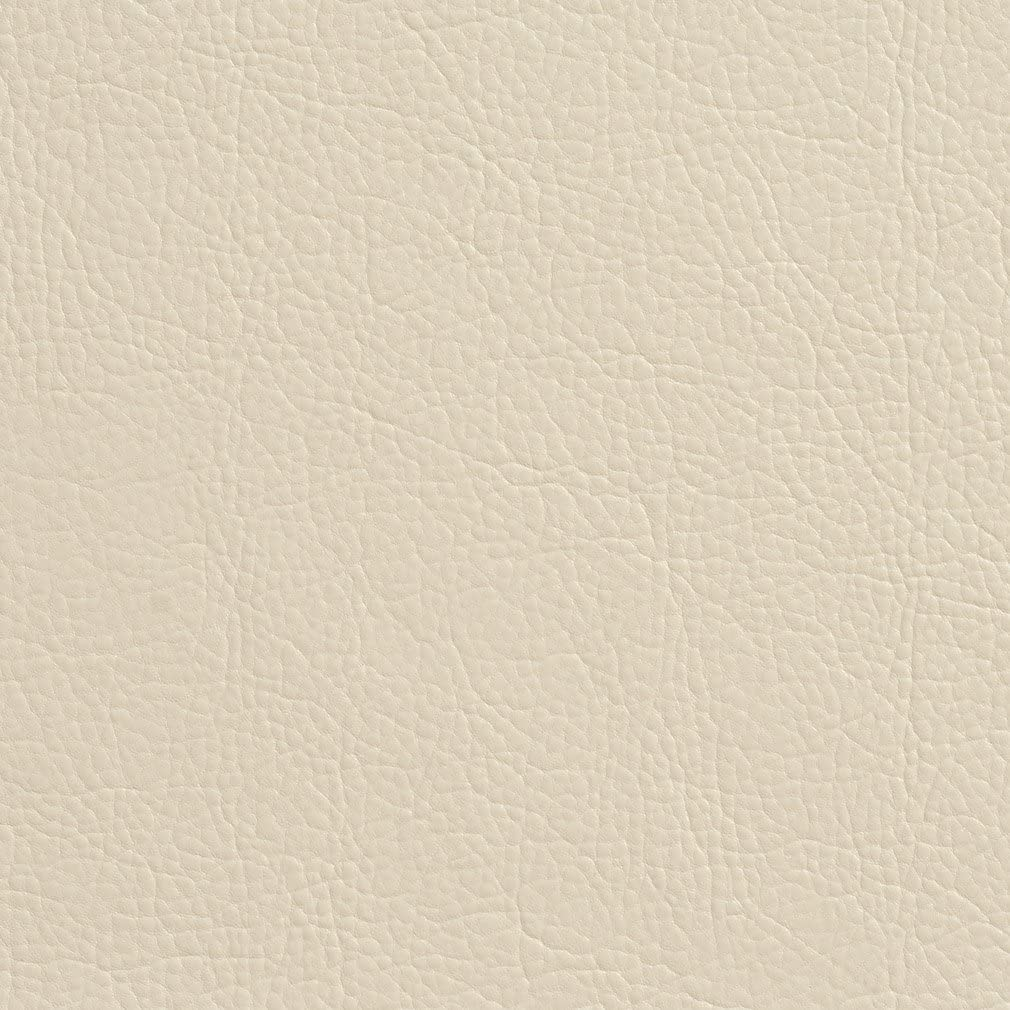 Pattern # G382 Off White Matte Leather Grain Upholstery Faux Leather By The Yard