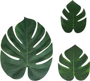 CocoHut Tropical Palm Leaves Plant Imitation Leaf - Hawaiian Luau Party Jungle Table Decorations