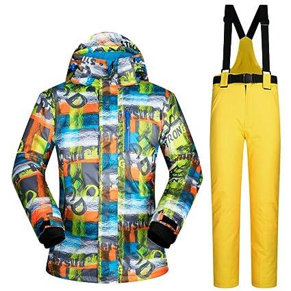Zjsjacket Chaqueta de esqui Traje de esquí Masculino Deportes de Invierno Chaqueta de Nieve Al Aire