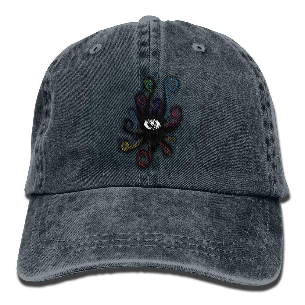 JTRVW Octopus Eyes Denim Hat Adjustable Female Classic Baseball Cap