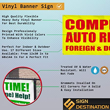 Vinyl Banner Multiple Options We Install Engines Business Automotive Outdoor