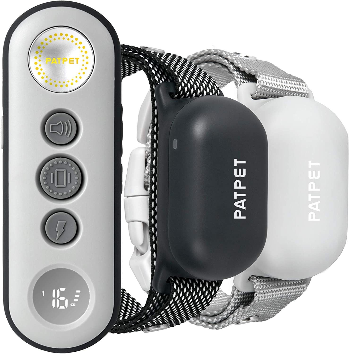 PATPET Dog Training Collar with Remote, 3000FT Rechargeable IPX7 Waterproof Dog Shock Collar for 8-110 lbs Small Medium Large 2 Dogs(2-Pack)