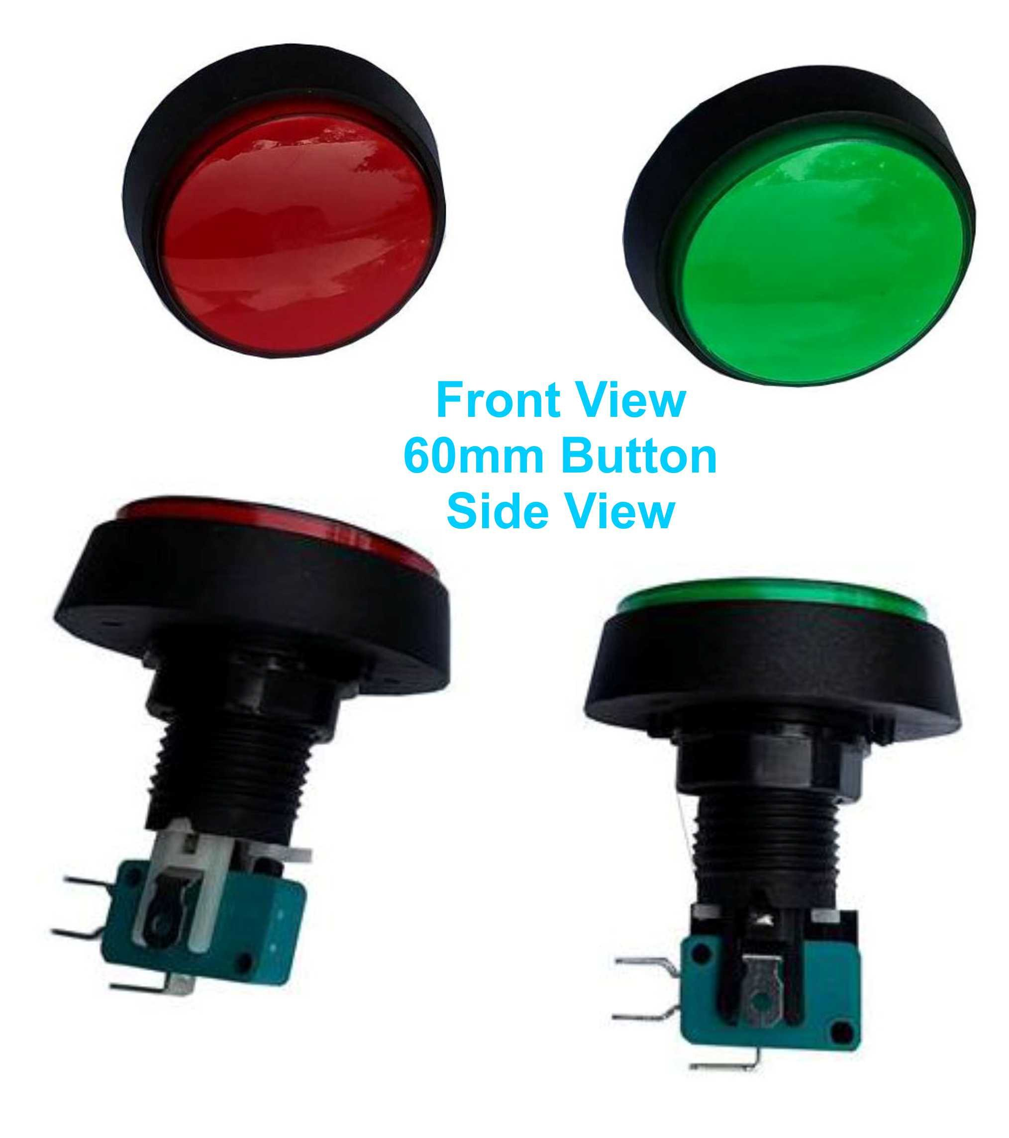 Uxcell Arcade Game buttons with 12VDC LED lamp Illuminated Momentary Push Button SPDT Micro Switch (Set of 2)